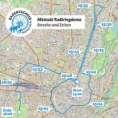 Altstadt-Radlring-Demo: 1 Jahr Radl-Ringen mit der Stadt